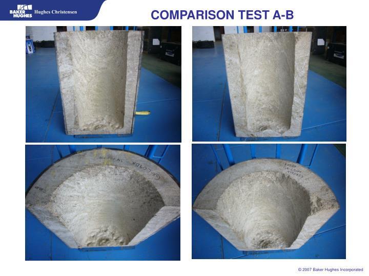 COMPARISON TEST A-B