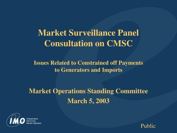Market Surveillance Panel