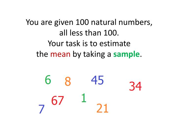 You are given 100 natural numbers,