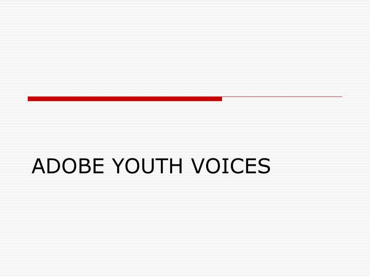 adobe youth voices n.