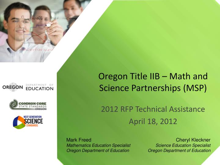 Oregon title iib math and science partnerships msp