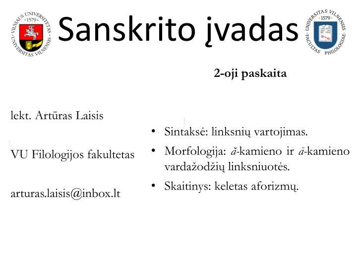 sanskrito vadas n.