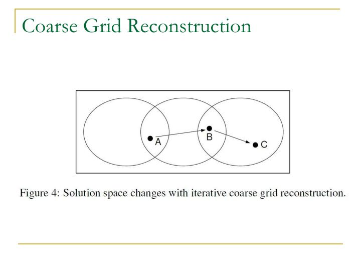 Coarse Grid Reconstruction