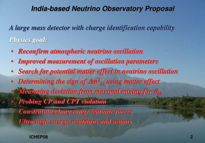 India based neutrino observatory proposal