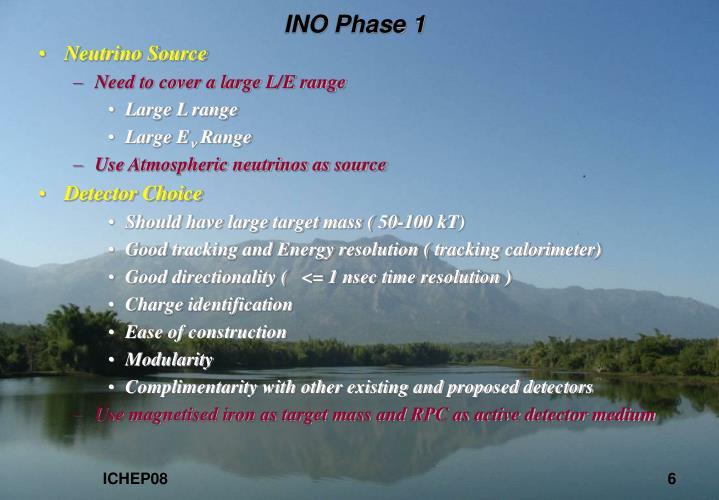 INO Phase 1