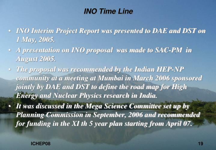INO Time Line