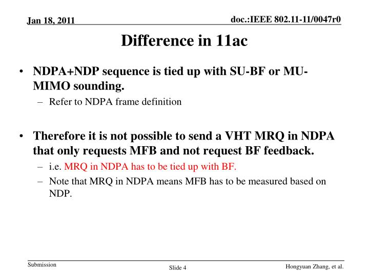 Difference in 11ac