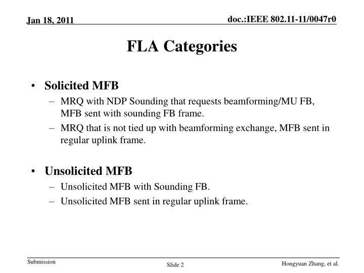Fla categories