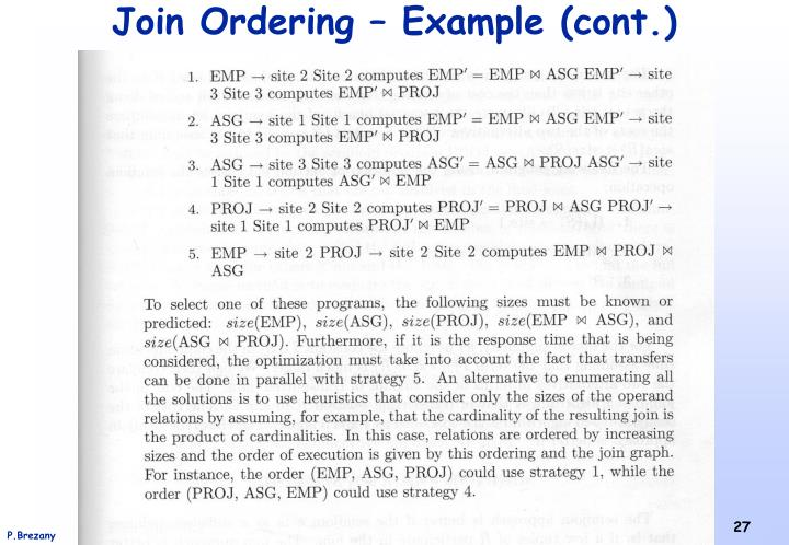 Join Ordering – Example (cont.)