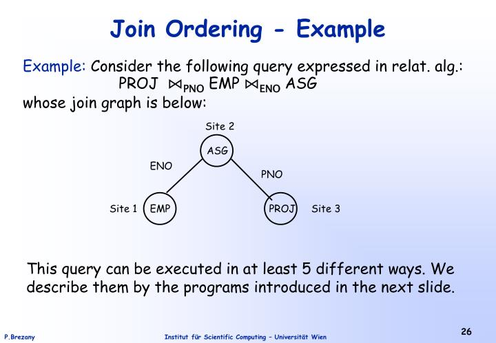 Join Ordering - Example
