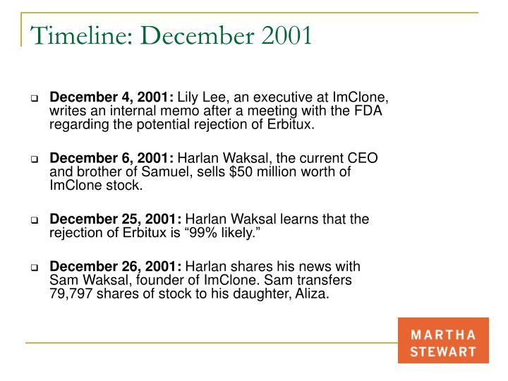 Timeline: December 2001