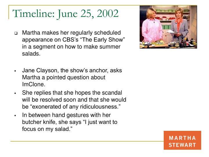 Timeline: June 25, 2002