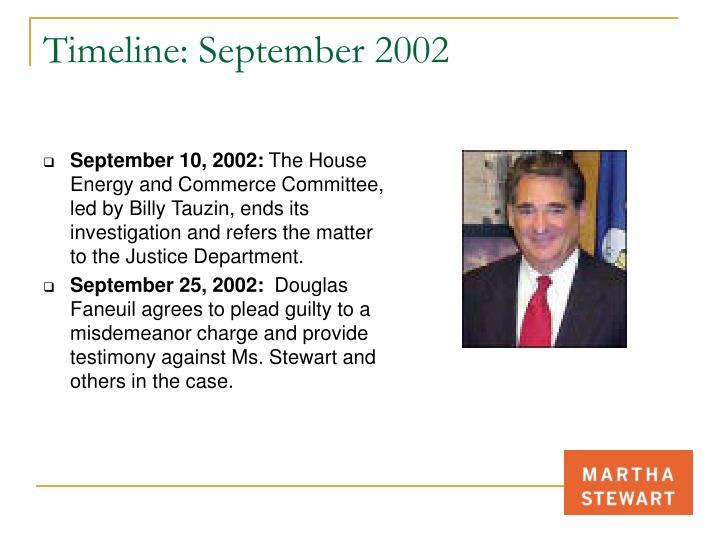 Timeline: September 2002