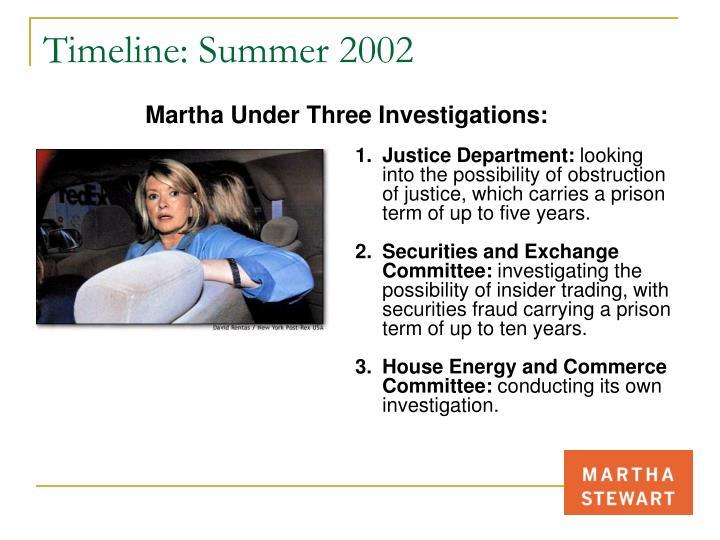Timeline: Summer 2002