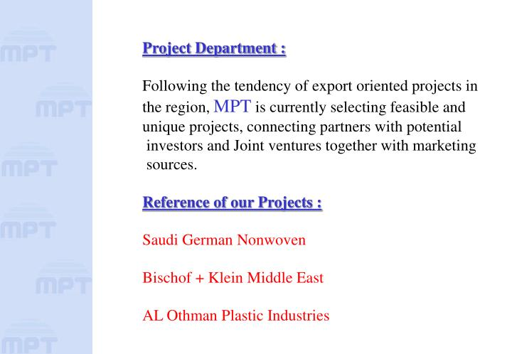 Project Department :
