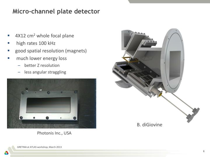 Micro-channel plate detector
