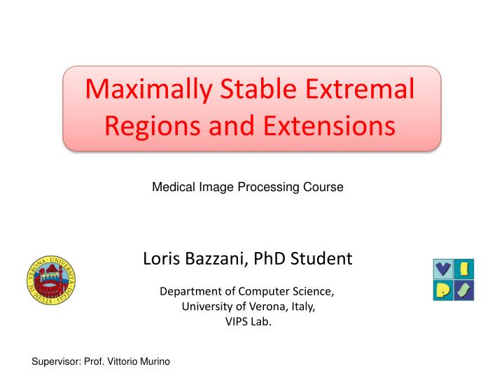 maximally stable extremal regions and extensions n.