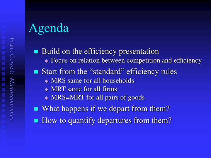 Build on the efficiency presentation