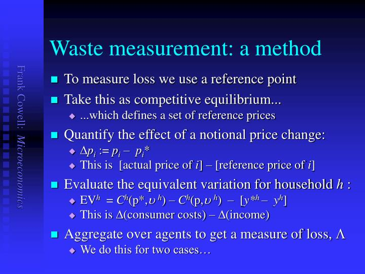 Waste measurement: a method
