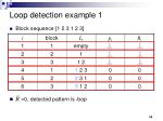 loop detection example 1