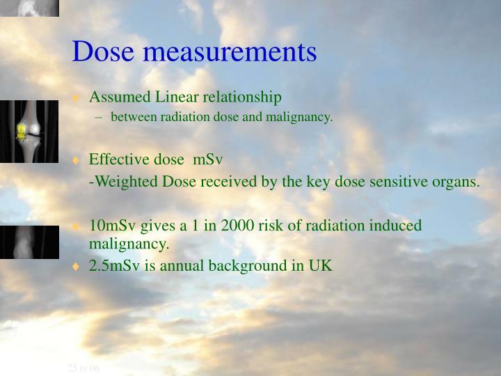 Dose measurements