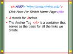 a href http www stritch edu click here for stritch home page a