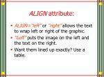 align attribute