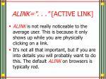 alink active link