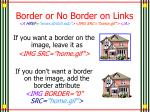 border or no border on links a href www stritch edu img src home gif a