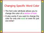 changing specific word color