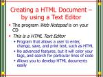 creating a html document by using a text editor1