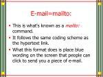 e mail mailto