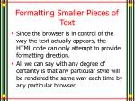formatting smaller pieces of text1