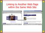 linking to another web page within the same web site