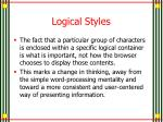 logical styles1
