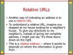 relative urls