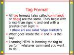 tag format
