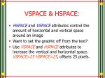 vspace hspace