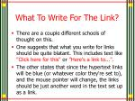 what to write for the link
