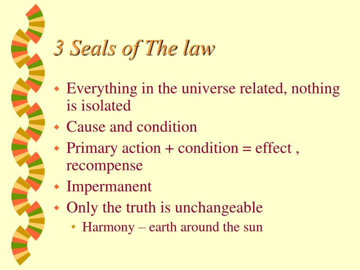 3 Seals of The law