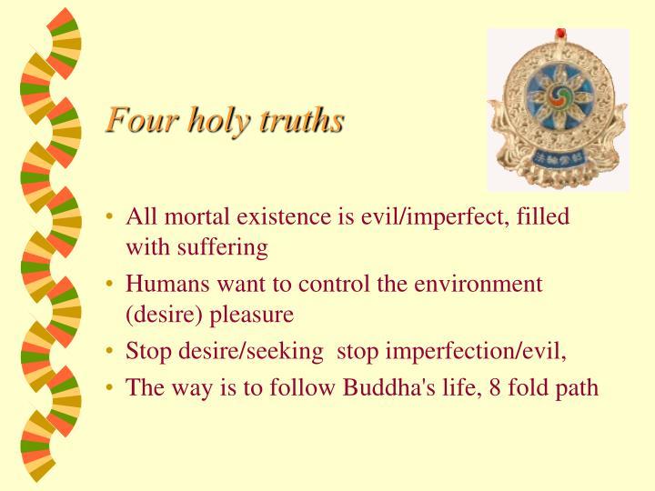 Four holy truths