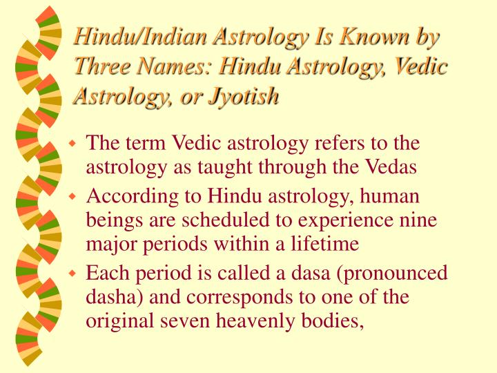 Hindu/Indian Astrology Is Known by Three Names: Hindu Astrology, Vedic Astrology, or Jyotish