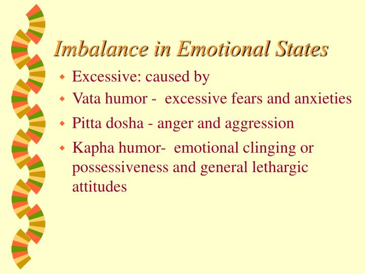 Imbalance in Emotional States