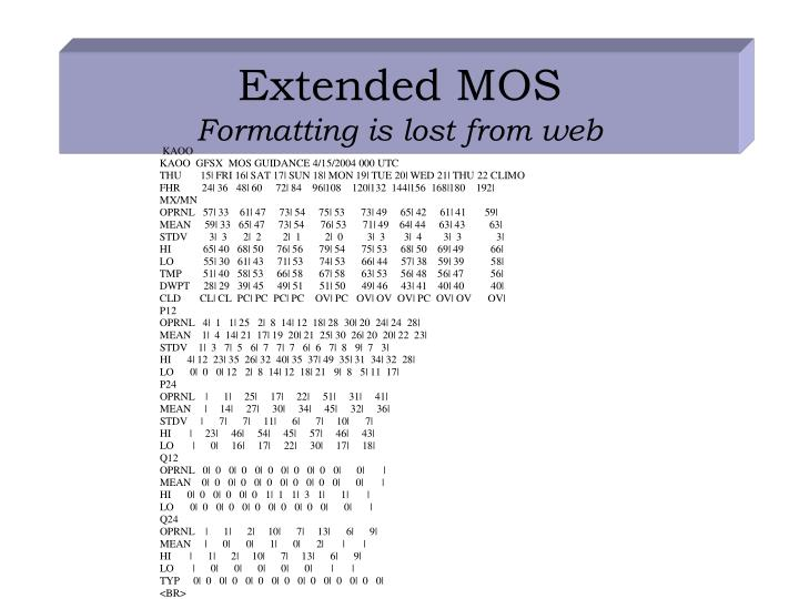 Extended MOS