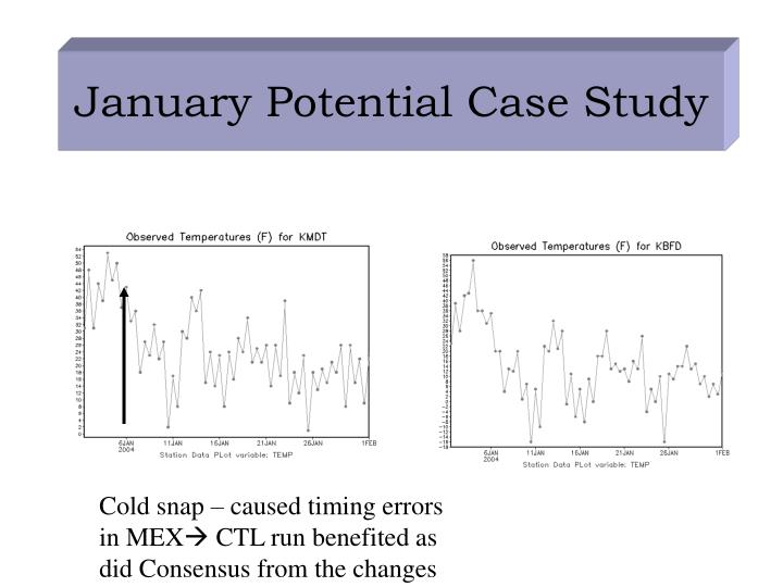 January Potential Case Study