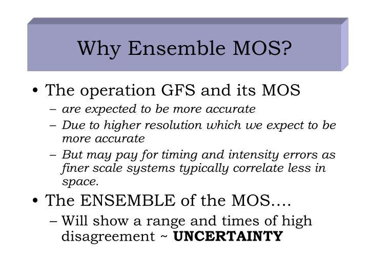 Why Ensemble MOS?