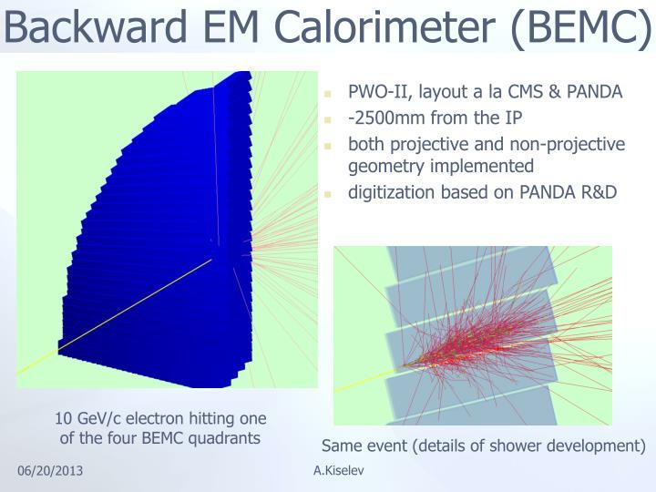 Backward EM Calorimeter (BEMC)