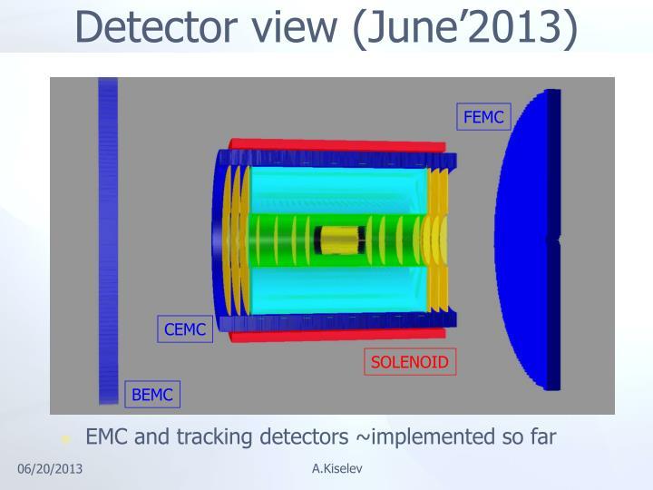 Detector view (June'2013)