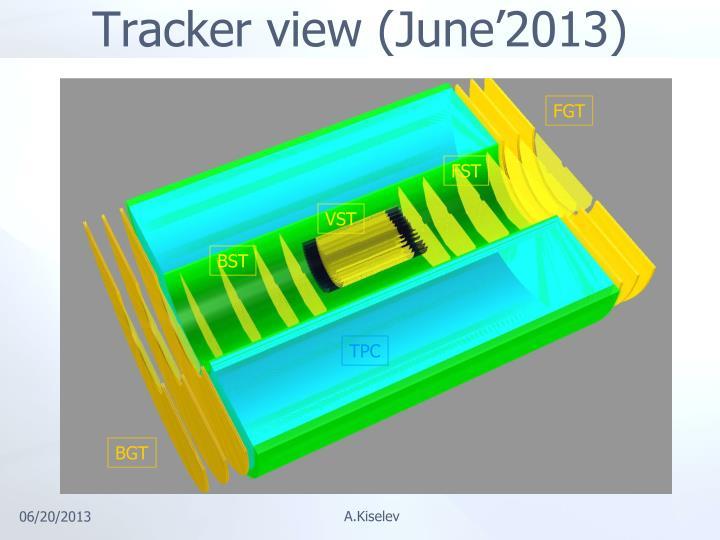 Tracker view (June'2013)