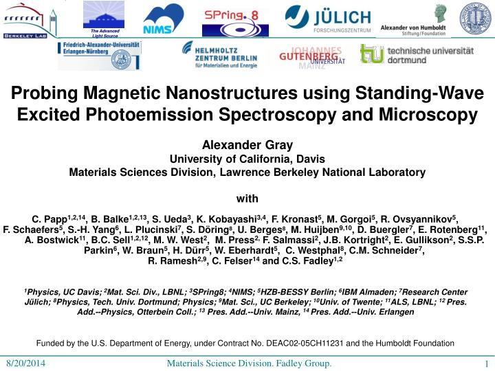 Probing Magnetic Nanostructures using Standing-Wave Excited Photoemission Spectroscopy and Microscop...